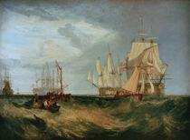 W.Turner, Spithead, Crew lichtet Anker von AKG  Images