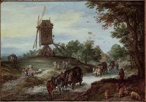 Jan Bruegel d.Ae./Ueberschwemmte Landstr. von AKG  Images