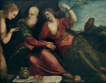 J.Tintoretto, Lot und seine Toechter by AKG  Images