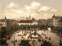 Bremerhaven, Marktplatz / Photochrom by AKG  Images