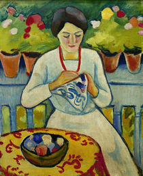 August Macke, Frau auf Balkon by AKG  Images