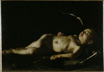 Caravaggio, Schlafender Amor by AKG  Images