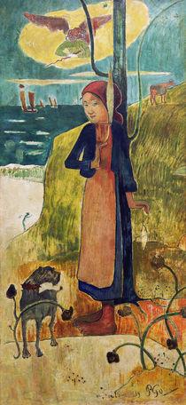 P.Gauguin, Bretonisches Maedchen beim Spi by AKG  Images