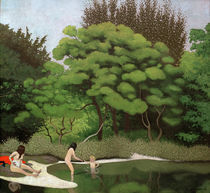 F.Vallotton, Waldsee mit Badenden by AKG  Images
