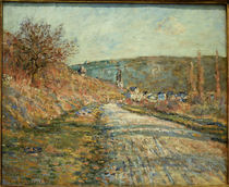 C.Monet, Die Strasse nach Vetheuil by AKG  Images