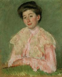 M.Cassatt, Laechelnde Frau in rosa Bluse von AKG  Images