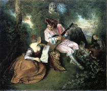 A.Watteau, Liebeslied by AKG  Images