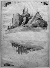 C.D.Friedrich, Felsen und Baeume von AKG  Images