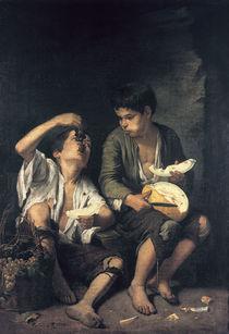 Murillo/ Trauben  und Melonenesser/1645 von AKG  Images