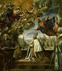 Tintoretto/ Pietro Loredan dankt Madonna by AKG  Images