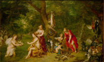 J.Brueghel d.Ae., Diana u.ihre Nymphen by AKG  Images