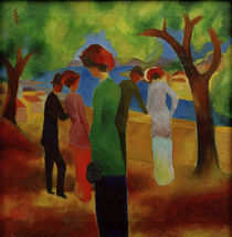 August Macke, Dame in gruener Jacke by AKG  Images