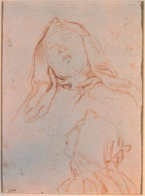 G.L.Bernini/ Kopfstudie hl.Therese von AKG  Images