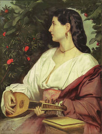 Anselm Feuerbach, Mandolinenspielerin by AKG  Images