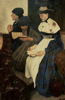 W.Leibl, Drei Frauen in der Kirche by AKG  Images
