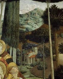 B.Gozzoli,Landschaft/Cap. dei Magi, 1459 von AKG  Images