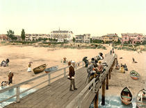 Ahlbeck, Strand / Photochrom by AKG  Images