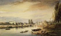 Daubigny/Seine,Blick Notre Dame/Aquarell by AKG  Images