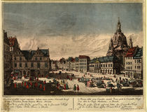 Dresden, Neumarkt / Probst n.Bellotto by AKG  Images
