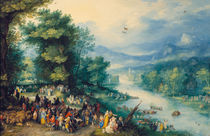 J.Brueghel d.Ae., Landschaft mit Tobias von AKG  Images