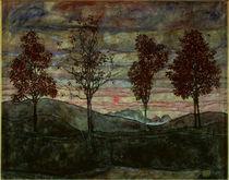 Egon Schiele, Vier Baeume / 1917 von AKG  Images