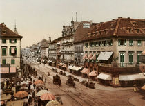 Karlsruhe, Kaiserstrasse / Photochrom by AKG  Images