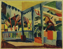 A.Macke, Terrasse in St.Germain by AKG  Images
