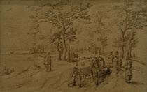 J.Brueghel d.Ae., Kutsche auf Landstrasse von AKG  Images