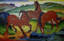 Franz Marc, Die roten Pferde by AKG  Images
