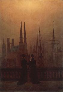 C.D.Friedrich, Naechtlicher Hafen von AKG  Images