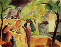 A.Macke, Spaziergaenger am See by AKG  Images
