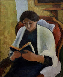 A.Macke, Lesende Frau im roten Sessel by AKG  Images