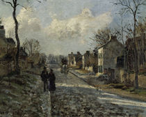 C.Pissarro, Strasse in Louvecienne/Detail by AKG  Images