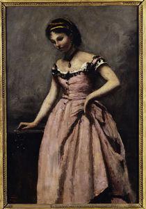 Corot, Junge Frau in rosa Kleid von AKG  Images