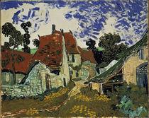 V.v.Gogh, Dorfstrasse in Auvers von AKG  Images