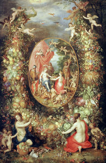 J.Brueghel d.Ae., Fruchtgirlande Cybele von AKG  Images