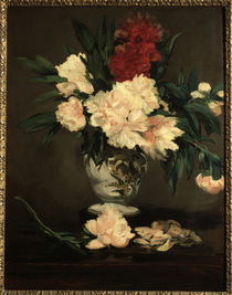 E.Manet, Vase mit Pfingstrosen von AKG  Images
