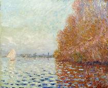 C.Monet, Flusslandschaft, Herbst von AKG  Images