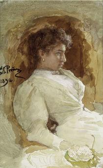 Ilja Repin, Bildnis Vera Repina/ 1896 von AKG  Images