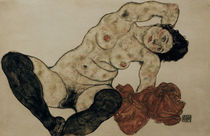 E.Schiele, Liegender Akt mit Handtuch by AKG  Images