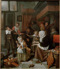 Jan Steen, Nikolausabend by AKG  Images