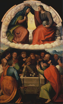 Giulio Romano, Werkstatt, Kroenung Mariae von AKG  Images