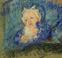 M.Cassatt, Kind auf blauem Kissen von AKG  Images