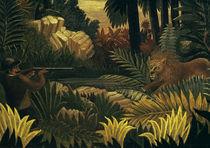 Rousseau,H./ Die Loewenjagd/ 1900-1907 by AKG  Images