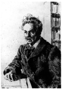 August Strindberg / Rad.v.Zorn by AKG  Images