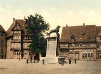 Braunschweig, Burgplatz / Photochrom von AKG  Images