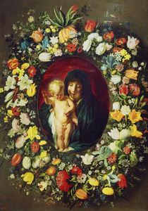 J.Jordaens,Daniels,Madonna im Blumenkrnz von AKG  Images