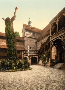 Nuernberg,Burg,innerer Burghof/Photochrom by AKG  Images