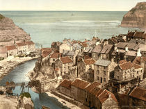 Whitby, Staithes / Photochrom von AKG  Images