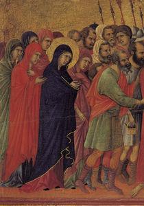 Duccio, Die Kreuztragung, Ausschnitt by AKG  Images